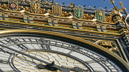 The beautiful structures from the wall of Big Ben
