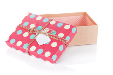 Retro style gift box