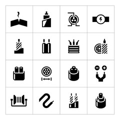 Set icons of cables and wires