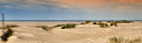 Leinwanddruck Bild Norderney Panorama am Strand