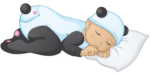 schlafendes Panda-Baby