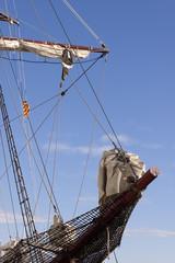 Sailing catalonian vessel bowsprit