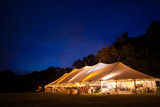 A wedding tent right after sunset - 79103175