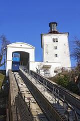 Funicular and Kula Lotrscak in Zagreb