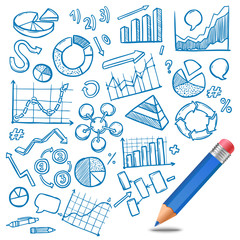 Charts And Diagrams Sketch