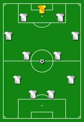 Formazione squadra in campo