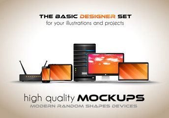 Modern devices mockups for your business projects.
