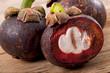 Fresh mangosteen fruit, fruit background