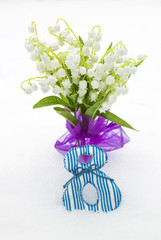 Lilies of valley as gift on March 8
