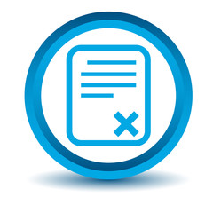 Blue bad document icon