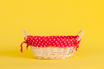 Basket with red on yellow