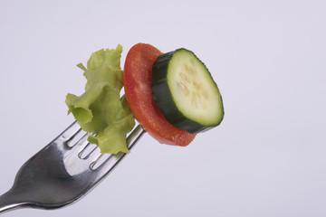 forchetta con verdura