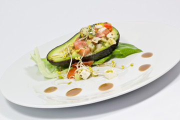 Stuffed vegetarian avocado