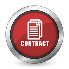 contract red icon