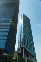 Buildings in Singapore skyline