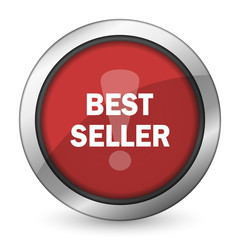 best seller red icon