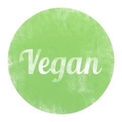 bg77 ButtonGrafik - Vegan Button - Kreideeffekt - g3326