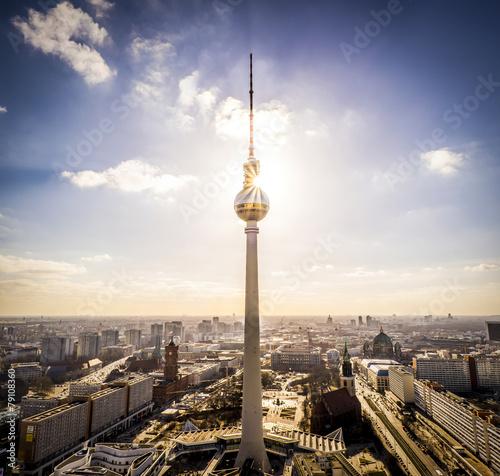 Fotobehang Berlijn Berliner Fernsehturm Panorama - Alexanderplatz