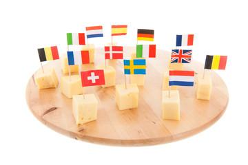 European cheese cubes