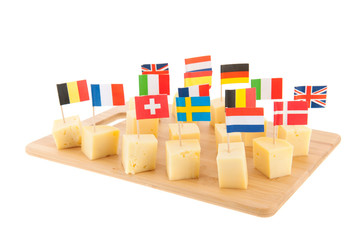 European cheese cubes