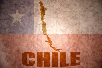 chile vintage  map