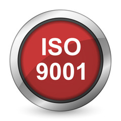 iso 9001 red icon