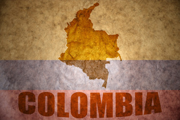 vintage colombia map