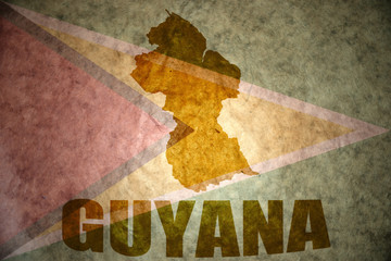 guyana vintage  map