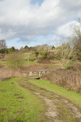 English countryside - footpath with a bridge