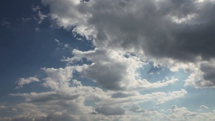Clouds in time-lapse photography, cut of several takes