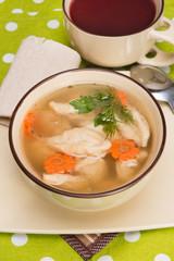 soup with wheat dumplings