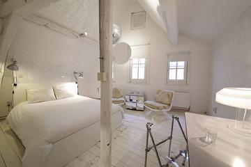chambre d'hôtes blanche