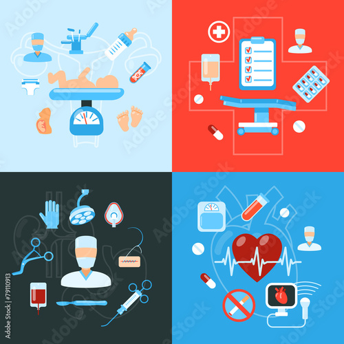 Surgery medical icons design concept - 79110913