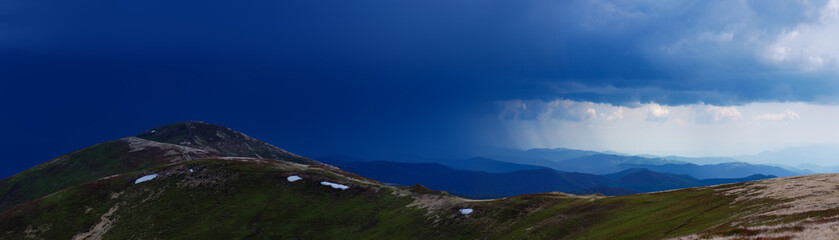 Stormy skies over the mountain