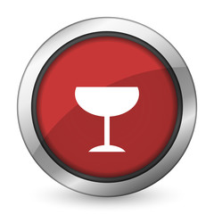 alcohol  red icon glass sign