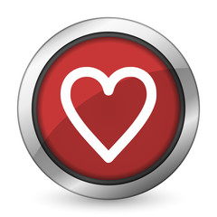 heart red icon love sign