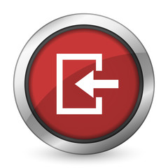 enter red icon