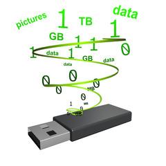 Data opslag op usb stick