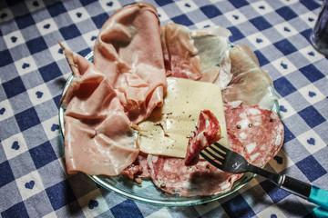 Piatto di salumi italiani