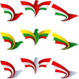 Bird Fly Flag Sign Symbol Insignia Hungary Lithuania Austria poster