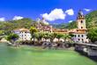 Leinwandbild Motiv Dolceaqua - pictorial villages of Italy series