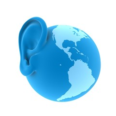 ear of the Earth, 3d render illustration