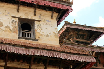 Ahylia and Krishna Narayan hindu temples. Panauti-Nepal. 1080