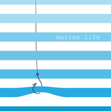 Card with marine stripes - 79116126