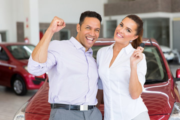couple just bought a new car