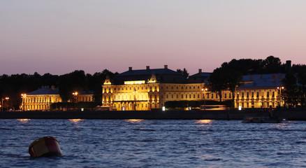 Menshikov Palace on Universitetskaya Embankment, Saint Petersbur