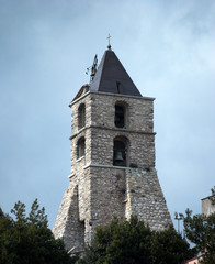 Bell tower cathedral Oliveto Citra village