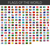 world flags vector mouse pad