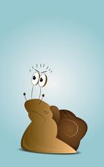 Cartoon angry snail