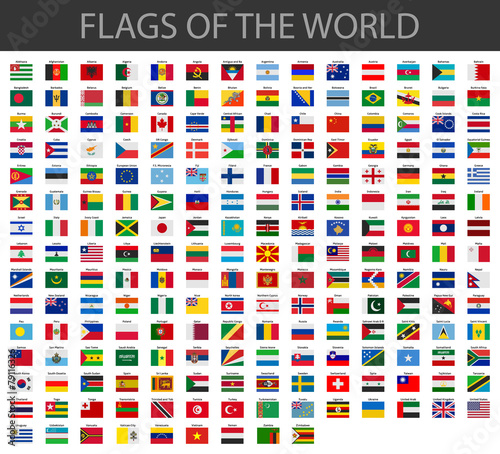 world flags vector poster